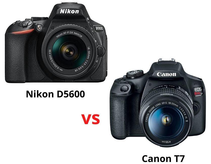 Nikon D5600 vs Canon T7